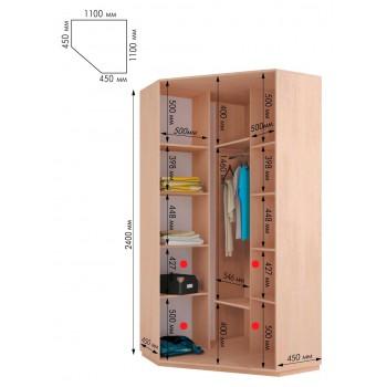 Угловой шкаф купе dp-1100