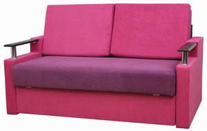 розовый прямой диван микс