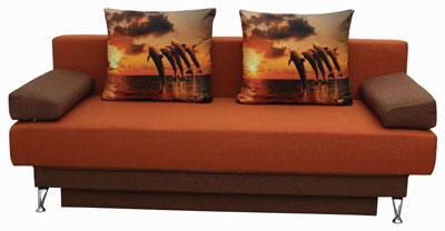 оранжевый диван форсаж