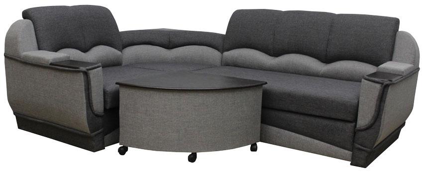 серый угловой диван мадрид