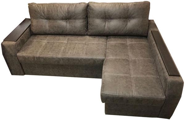 коричневый угловой диван элит